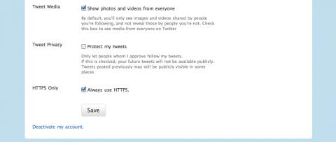 Twitter.com - mit 'Always use HTTPS' durchgängig HTTPS-gesichert (Bild: Twitter)