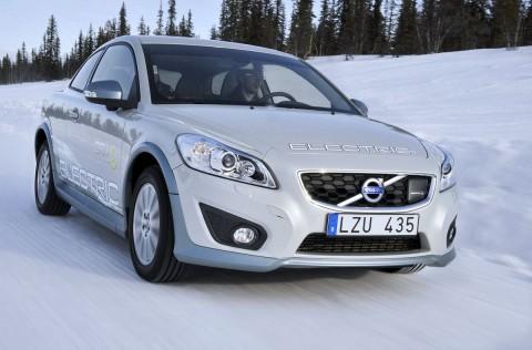 Volvos Elektroauto C30  musste sich am Polarkreis bewähren. (Foto: Volvo)
