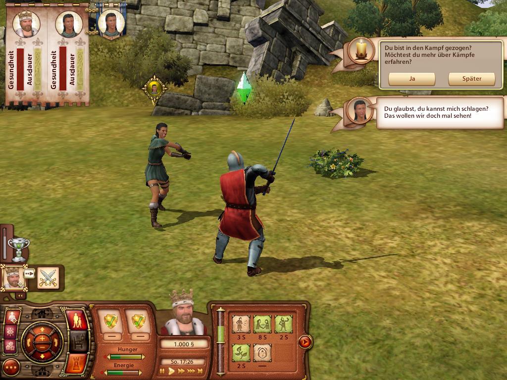 Spieletest Die Sims Mittelalter Schlafen Essen Bestien