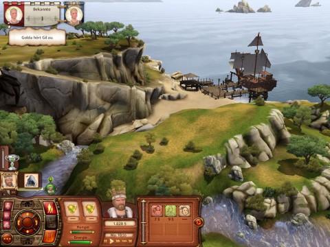 Blick über die mittelalterliche Welt der Sims