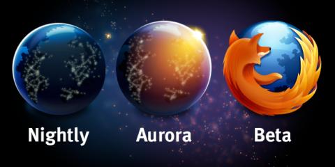 Neue Logos für die Firefox-Channel Nightly und Aurora