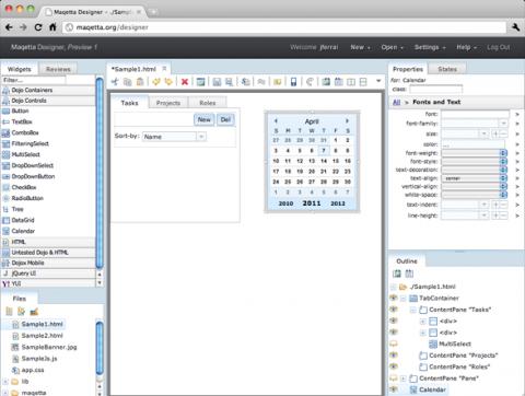 HTML5-Editor Maqetta