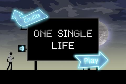 Startbildschirm von One Single Life