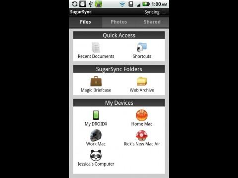 Sugarsync für Android