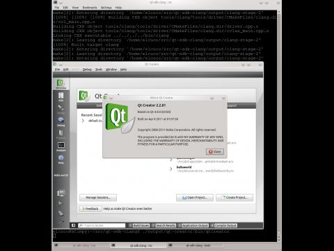 Die Entwicklungsumgebung Qt-Creator wurde erfolgreich mit Clang kompiliert.