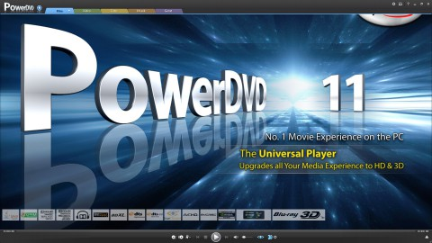 PowerDVD 11 - der Startbildschirm (Bild: Cyberlink)