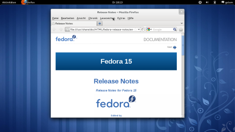 Fedora 15 Beta
