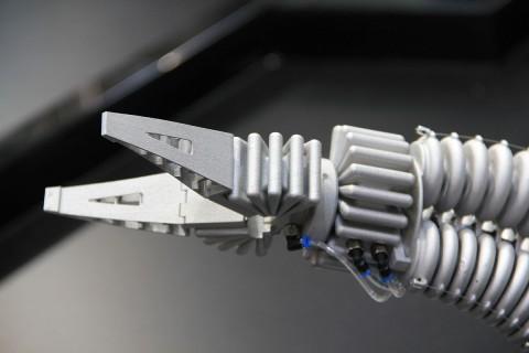 Der Greifer besteht aus zwei Fingrippern, mit denen der Roboter sanft zupackt. (Foto: wp)