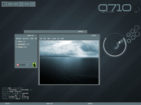 Der Desktop des Fvwm 2.6.<br>Erstellt von pebcak/saigo