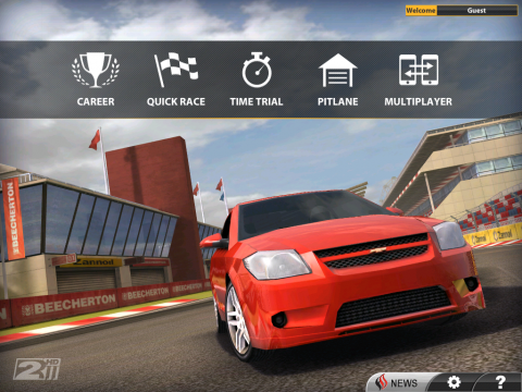 Real Racing 2 HD am iPad 2...