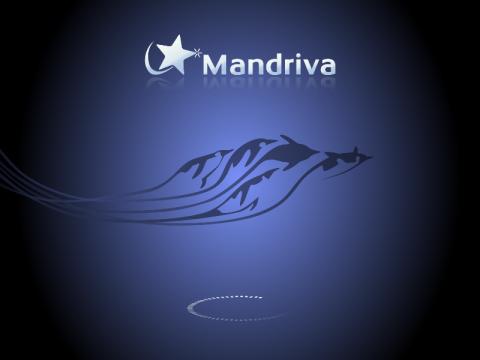 Der Bootscreen von Mandriva 2011 Beta 2
