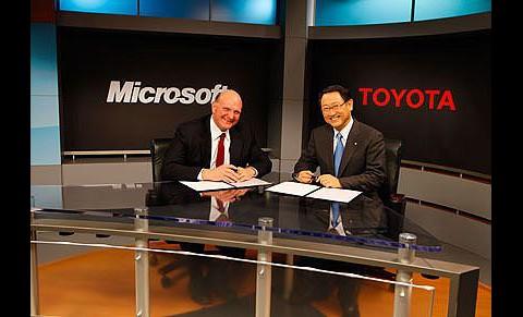 Chefs unter sich: Steve Ballmer und Akio Toyoda (Foto: Microsoft)