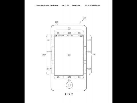 Apples Patentantrag 20110080348 zeigt ein iPhone mit Zweitdisplay für Buttondarstellung. (Bild: Apple/US-Patentamt)