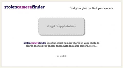 stolencamerafinder.com - Bildupload-Funktion