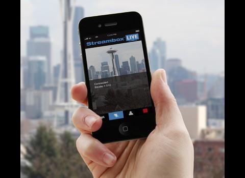 Mit Streambox MX und Streambox Live zum Web-Livestream - hier noch auf dem iPhone 4 (Bild: Streambox)