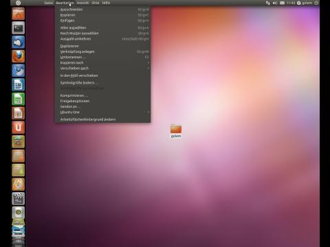 Das Menü des Desktops