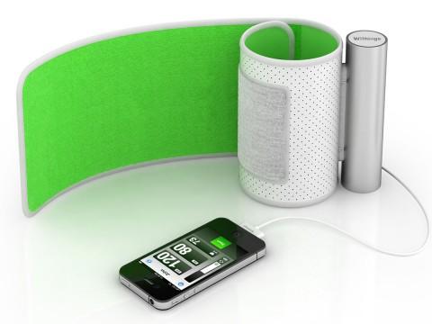 Withings Blood Pressure Monitor - macht iPhone, iPad und iPod touch zum Blutdruckmessgerät. (Bild: Hersteller)