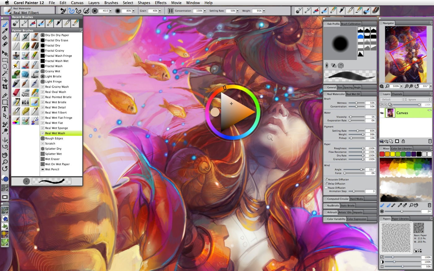 Corel Painter 12 Malprogramm F R Mandalas Aquarelle Und Lfarben Screenshots