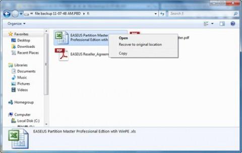 Easeus Todo Backup 2.5 - Imageinhalte teilweise wiederherstellen