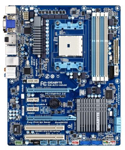Gigabytes A75-UDH4 mit A75-Chipsatz und Sockel FM1