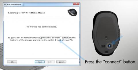 HP Wifi Mobile Mouse - Anbindung an den Rechner (Bild: HP)
