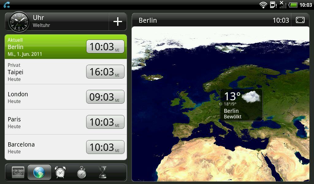 HTC Flyer im Test: Gelungenes Android-Tablet mit eigener Handschrift - Wetteranwendung