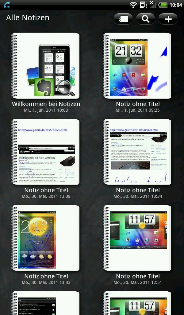 HTC Flyer im Test: Gelungenes Android-Tablet mit eigener Handschrift - Notizen