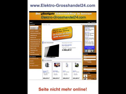 Einer der betrügerischen Webshops (Screenshot: LKA Bayern)