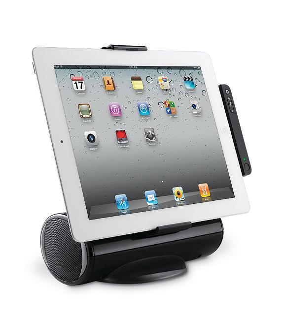 Logitech: Zwei Bluetooth-Tastaturen für das iPad - Logitech AV Stand (Foto: Logitech)