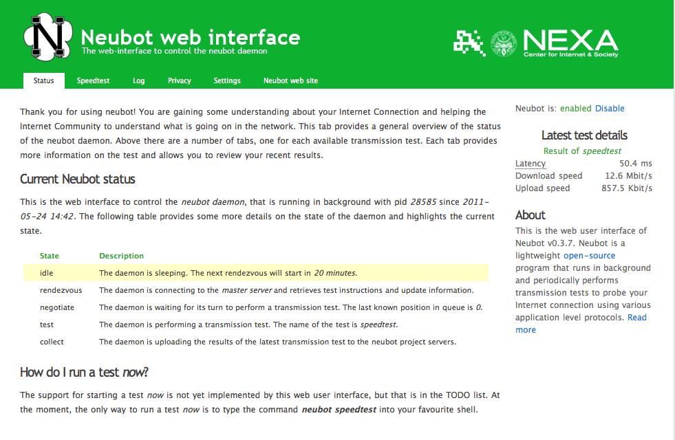 Netzwerkmanagement: Neubot 0.3.7 überwacht Netzneutralität - Neubot 0.3.7