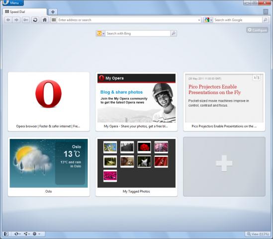 Opera 11.50 Beta mit Schnellwahl-Erweiterung