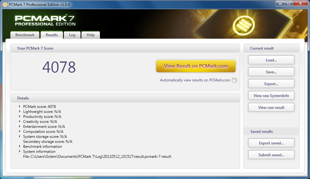 PCMark 7 im Test: Benchmark mit realen Anwendungsprofilen - Core i7-975 mit 6 GByte, Radeon HD 6990, Intel-SSD X-25M G1