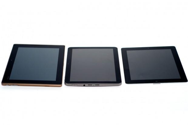 10-Zoll-Tablets: Asus Transformer, Samsung Galaxy Tab 10.1V und iPad 2 (v.l.n.r). (Bilder: Andreas Sebayang)