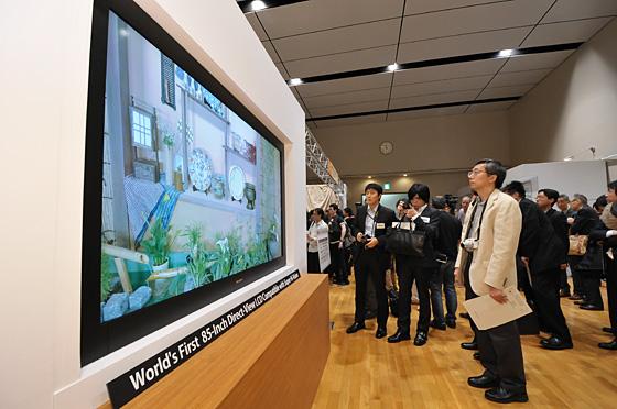 Super Hi-Vision: Fernseher mit 7.680 x 4.320 Pixeln Auflösung - Sharp Super-Hi-Vision (Bild: Sharp)