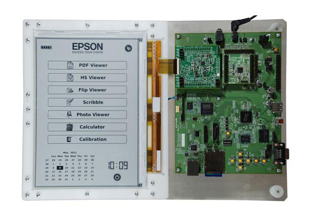 Ultrascharfer E-Book-Reader: E-Ink und Epson zeigen Prototyp mit 300-dpi-Display - Referenzdesign eines E-Book-Readers mit 300-dpi-E-Ink-Display (Bild: Epson)
