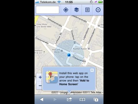 Google Maps als Web-App für Android und iOS (Bild: Golem.de)