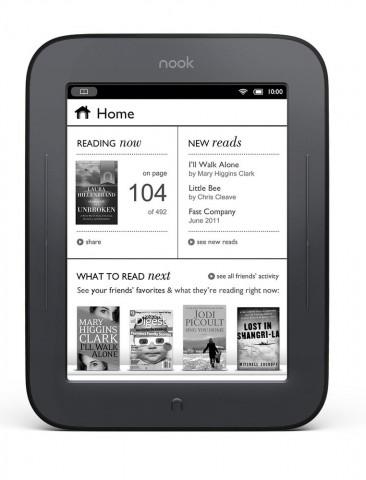 Nook Simple Touch heißt der neue E-Book-Reader von Barnes & Noble. (Bild: Barnes & Noble)