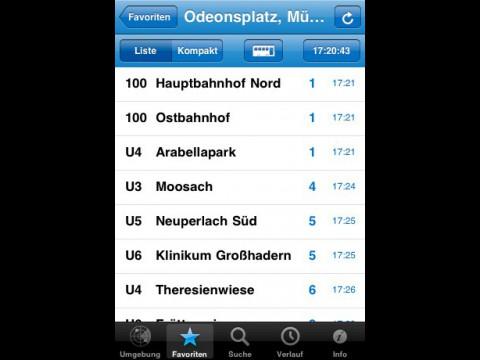 Abfahrtsmonitor - iOS-App von Witali Aswolinskiy (Bild: Witali Aswolinskiy)