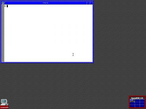 Der Standarddesktop FVWM von Openbsd 4.9
