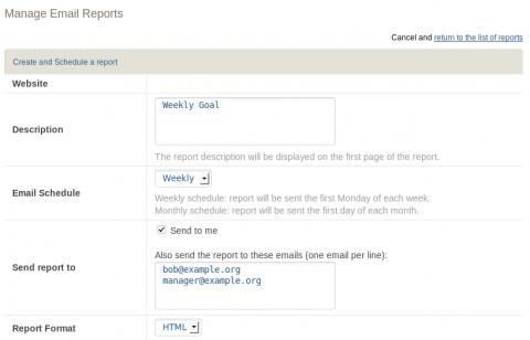Das automatische Versenden von Berichten per E-Mail in Piwik 1.4
