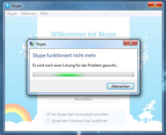 Am 26. Mai 2011 stürzten rund um den Globus Windows-Clients von Skype ab. (Bild: Golem.de)