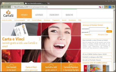 Die von F-Secure auf Sonys thailändischem Webserver gefundene Phishing-Webseite (Bild: F-Secure)