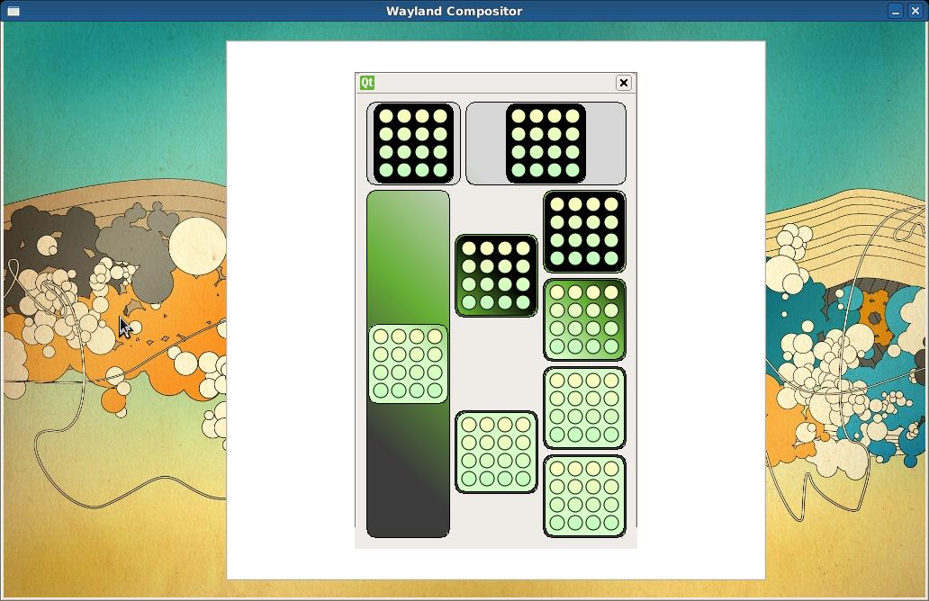 Displayserver: Wayland statt X.org - Wayland mit Qt-Anwendung