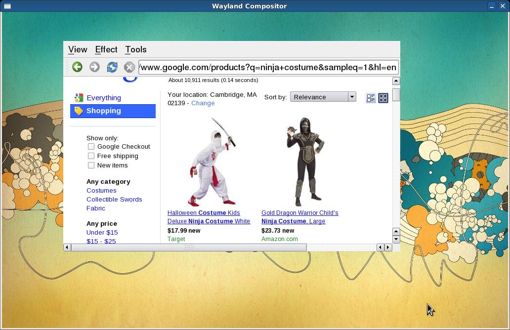Displayserver: Wayland statt X.org - Wayland und Webkit