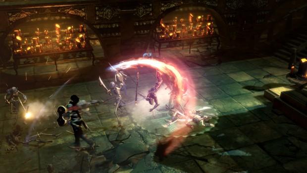 Mit einem schicken Effekt zerlegt der Spieler seinen Gegner.