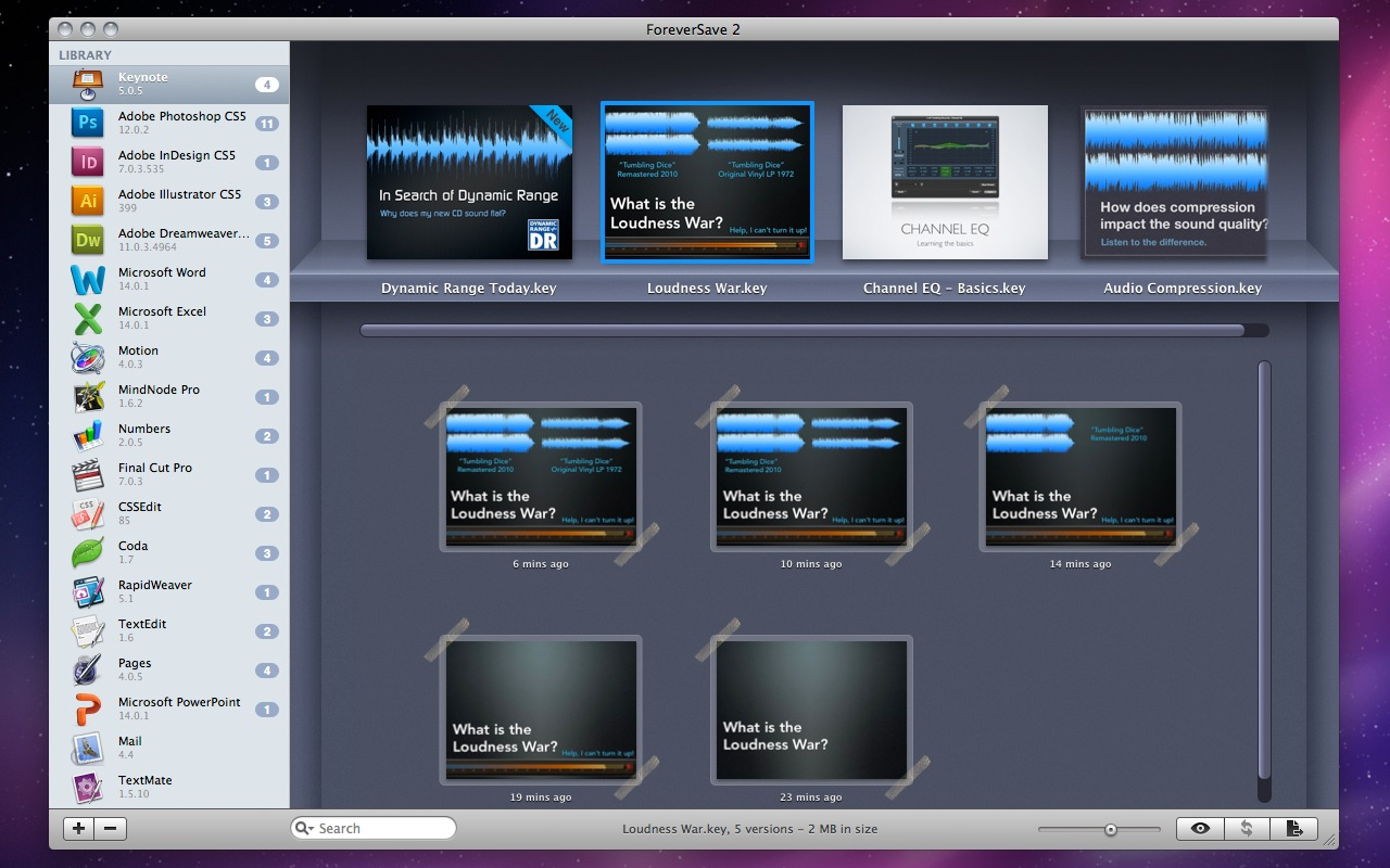 Mac OS X: Programmabstürze ohne Datenverlust mit Foreversave - Foreversave (Bild: Tool Force Software)