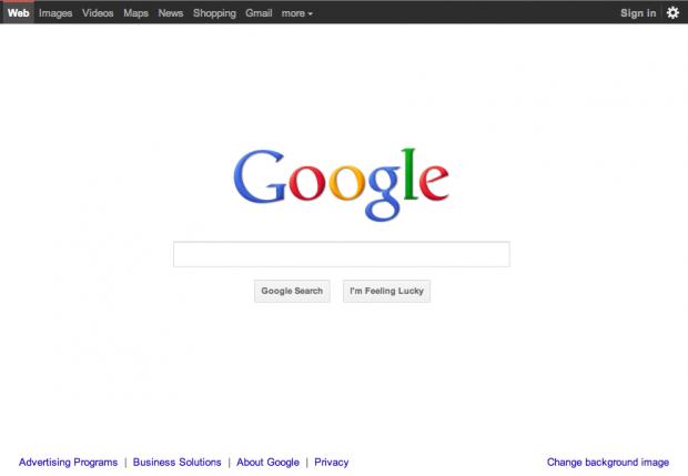 Googles überarbeitete Startseite (Bild: Google)