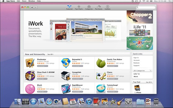 Mac OS X 10.7 alias Lion: App Store