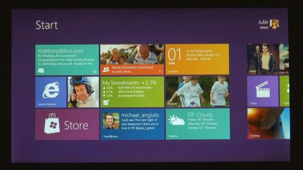 Windows 8: Startbildschirm
