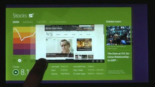 Windows 8: Applikationen wechseln durch Wischen von links
